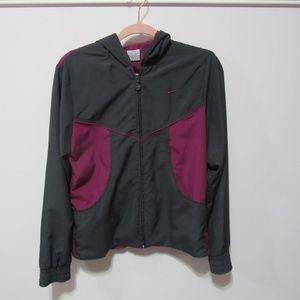 Nike Windbreaker Dark Gray/Magenta Size M